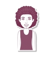 silhouette teenager with curly hair vector image vector image