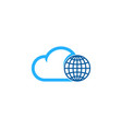 sky globe logo icon design vector image vector image