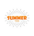 summer time summer with burst isolated background vector image vector image