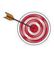 target strategy goal success business concept vector image