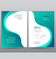 template annual report vector image vector image