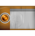 template gold target vector image vector image