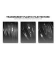 transparent plastic film texture stretchable vector image vector image