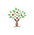 tree hands icon design template isolated vector image