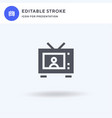 tv icon filled flat sign solid pictogram vector image vector image