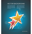 Two gold stars cinema background vector image vector image
