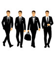 wedding men s suit and tuxedo collection vector image