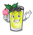 with ice cream mint julep character cartoon vector image