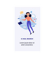 woman and information concept vector image