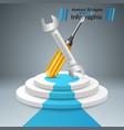 wrench screw repair pedestal stair ladder vector image