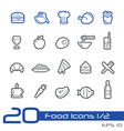 Food and Drink Icons Outline Series vector image