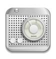Radio app icon vector image