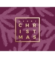 Merry Christmas Abstract Classy Card vector image