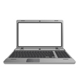 Silver laptop vector image