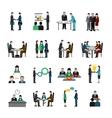 Teamwork Icons Set vector image