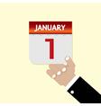 1st January Calendar vector image vector image