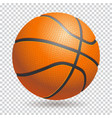 3d basketball isolated ball on transparent vector image