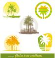 palm tree emblems labels
