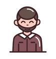 avatar male man portrait cartoon character line vector image