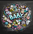 baby hand drawn cartoon doodles vector image vector image