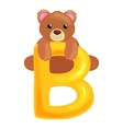 bear letter with animal for kids abc education vector image vector image