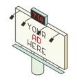 billboard icon isometric style vector image vector image