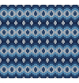 blue knitted pattern vector image vector image