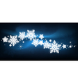 blue snowflake Christmas background vector image vector image