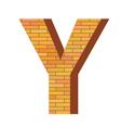 brick letter Y vector image vector image