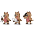 Brown Wild Pig Mascot with phone vector image vector image