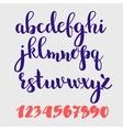 Brush style alphabet vector image
