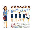 businesswoman - cartoon people character vector image vector image