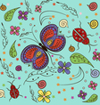 Butterfly lady bug Pattern vector image vector image