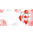 canada day balloons flag background vector image