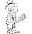 Cartoon prospector with a gold nugget vector image vector image