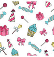 celebration pattern party seamless pattern vector image