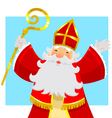 cheerful Sinterklaas vector image vector image