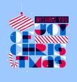 christmas postcard with stylish seasons greetings vector image vector image