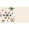 christmas snowflakes and geometric shapes vector image vector image