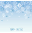 christmas template with snowflakes vector image