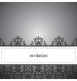 Classic elegant dark card or invitation vector image vector image