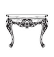 classic table furniture detailed front vector image vector image