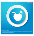coconut icon abstract blue web sticker button vector image