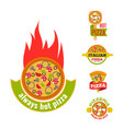 Delivery pizza logo badge pizzeria