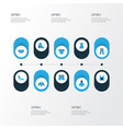 dress colorful icons set collection of dress vector image vector image
