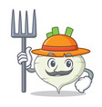 farmer turnip character cartoon style vector image vector image