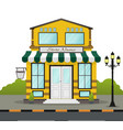 flat design store front with place for name vector image vector image