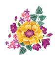 flower bouquet floral frame flourish greeting vector image vector image