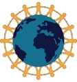 Friendship Around The World Symbol vector image