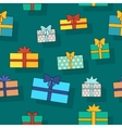 Gift Boxes Seamless Pattern in Flat Design vector image vector image